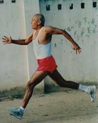 Sri Chinmoy trainiert